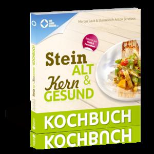Cover des Kochbuchs Steinalt & Kerngesund von Marcus Lauk