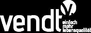 Weißes transparentes Logo vendt Privatpraxis für Physiotherapie